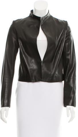 Cushnie Et OchsCushnie et Ochs Collarless Leather Jacket