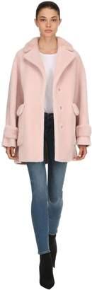 Mink Fur Coat W/ Leopard Collar