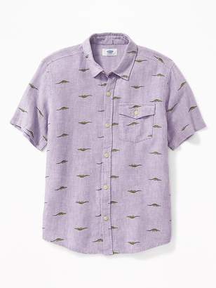 Old Navy Linen-Blend Shirt for Boys