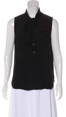 Burberry Sleeveless Pleated Blouse