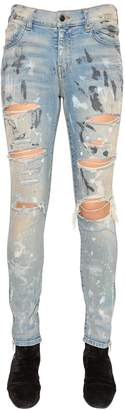 Amiri Painted & Ripped Stretch Denim Jeans