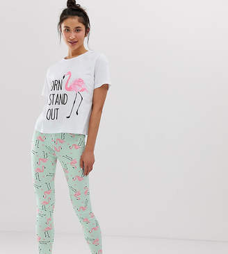 Asos Tall DESIGN Tall born to stand out pyjama legging set 214a6d6e4