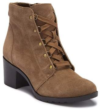 Anne Klein Kimbree Suede Lace-Up Bootie