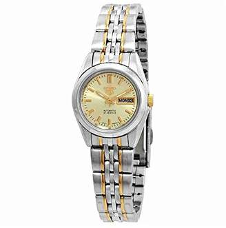 Seiko Women's SYMA37K Two Tone Stainless Steel Analog with Gold Dial Watch