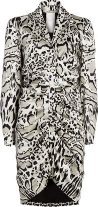 Roberto Cavalli Silk Leopard Mini Dress