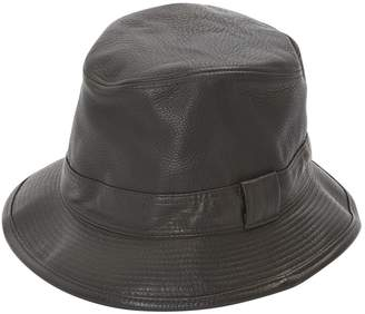 Hermes Brown Leather Hats & pull on hats