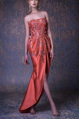 Couture Mnm Strapless Evening Gown