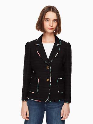 Kate Spade Blossom trim tweed jacket