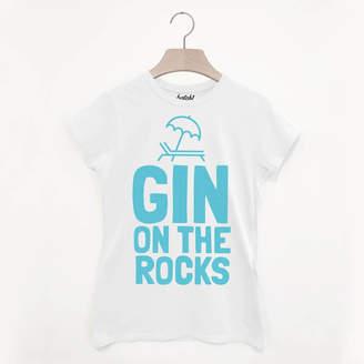 8b6d84b71 Batch1 Gin On The Rocks Women's Summer Slogan T Shirt