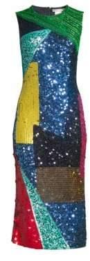 Alice + Olivia Nat Embellished Fitted Dress