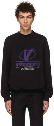 Vetements Black Zurich Sweatshirt