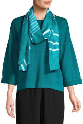Eileen Fisher Abstract Silk Scarf