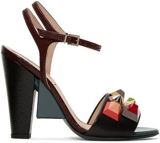 Fendi Multicolor Rainbow Sandals $895 thestylecure.com
