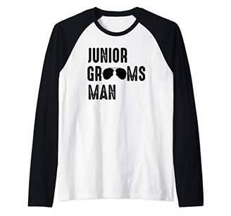 Mens Junior Groomsman Cool Shades Funny Wedding Gift Raglan Baseball Tee