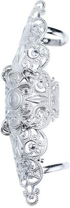 Lucy Ashton Jewellery - Silver Adjustable Full Finger Armour Ring
