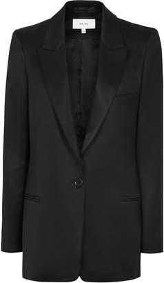 Reiss Freja - Boyfriend Fit Blazer in Black