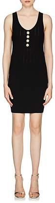Balmain Women's Button-Embellished Sleeveless Dress - Black