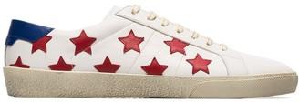 Saint Laurent white SL06 star applique leather sneakers