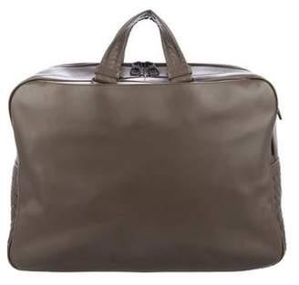 Bottega Veneta Intrecciato-Trimmed Briefcase