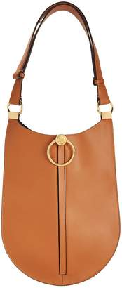 Marni Brown Leather Hobo Shoulder Bag