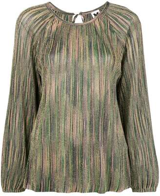 M Missoni gathered bell sleeve raglan blouse