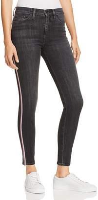 Hudson Barbara Track Stripe Jeans in Dark Raven