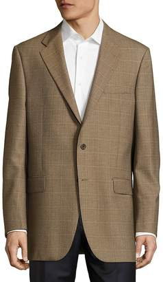 Hickey Freeman Men's Lindsey Checked Two-Button Jacket