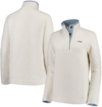 Unbranded Women's Sail Racing White LSU Tigers Southern Tide Quilted Four-Button Pullover Jacket