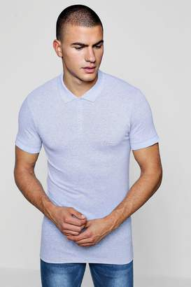 boohoo Short Sleeve Muscle Fit MAN Signature Polo
