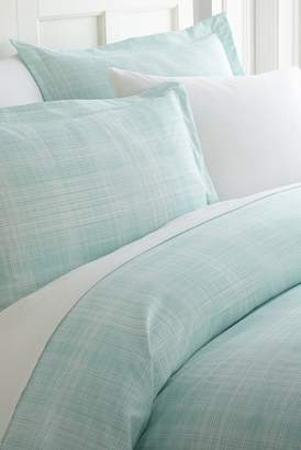 IENJOY HOME Home Spun Premium Ultra Soft Thatch Pattern 2-Piece Duvet Cover Twin Set - Aqua