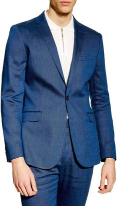 Topman Skinny Fit Premium Linen-Blend Suit Jacket