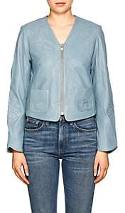 Zadig & Voltaire WOMEN'S VENCIA COLLARLESS LEATHER JACKET