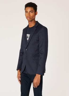 Men's Slim-Fit Navy Buggy-Lined Blazer