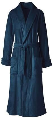 Lands' End - Blue Plus Plush Fleece Dressing Gown