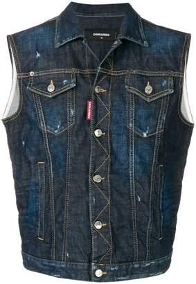 DSQUARED2 sleeveless denim jacket