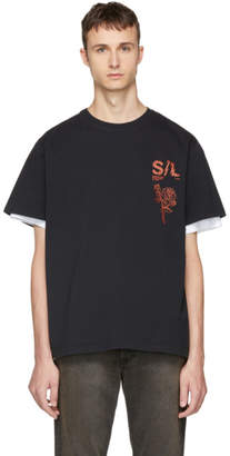 Second/Layer Black Shattered Logo T-Shirt