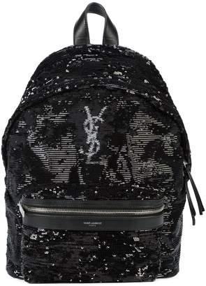 Saint Laurent logo monogram backpack
