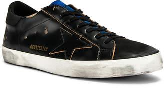 Golden Goose Superstar Sneaker in Brushed Black & Blue | FWRD