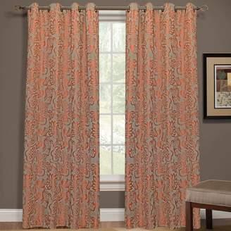 Yacon 1-Panel Floral Jacquard Window Curtain
