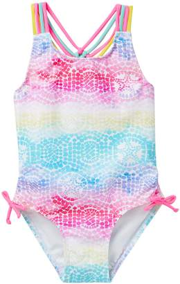Flapdoodles Starfish Mosaic 1-Piece Swimsuit (Toddler Girls)