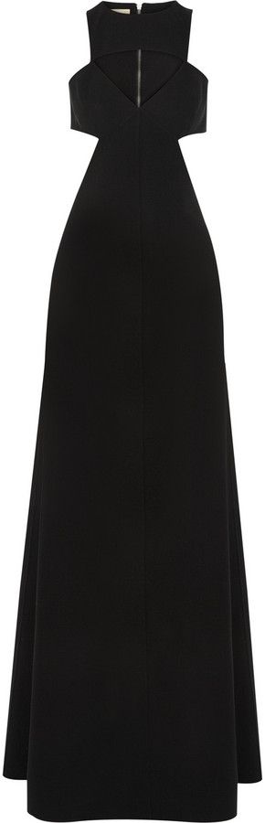 Michael Kors Cutout stretch-wool gown