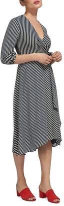 Whistles Callie Striped Wrap Dress