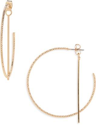 Panacea Front/Back Hoop Earrings
