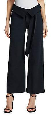 Jonathan Simkhai Women's Satin Wide Leg Pants