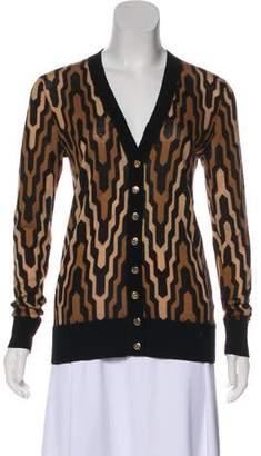 Tory Burch Merino Wool Button-Up Cardigan
