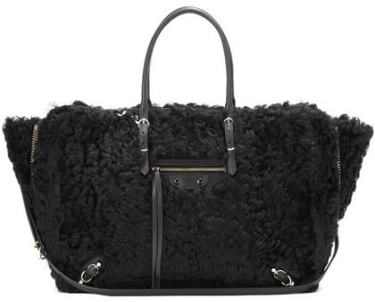 Balenciaga Balenciaga Papier B4 Zip-Around shearling shoulder bag