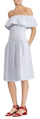 Lauren Ralph Lauren Striped Fit-and-Flare Dress