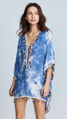 Bindya Tie Dye Modal Lace Up Tunic