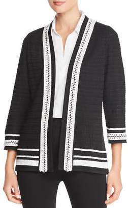 Misook Chain-Trim Cardigan