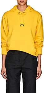 """Helmut Lang Women's """"Taxi"""" Cotton French Terry Hoodie - Yellow"""